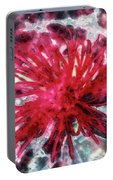 Red, Red... Flower Portable Battery Charger