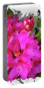 Red Rhododendron Flowers Portable Battery Charger
