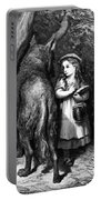 Red Riding Hood Meets Old Father Wolf Portable Battery Charger