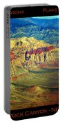 Red Rock Canyon Poster Print Portable Battery Charger