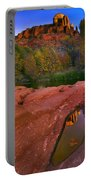 Red Rock Reflection Portable Battery Charger by Mike  Dawson