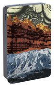 Red Rock White Ice Portable Battery Charger