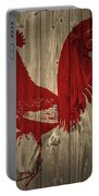 Red Rooster Barn Door Portable Battery Charger
