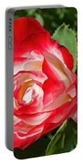 Red Rose And A Sidecar At Pilgrim Place In Claremont-california Portable Battery Charger