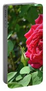 Red Rose Blooming Portable Battery Charger