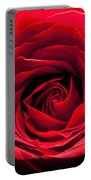 Red Rose Colour Isolated On A Green Background. Portable Battery Charger