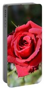 Red Rose Landscape Portable Battery Charger