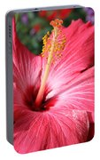 Red Rose Of Sharon  Portable Battery Charger