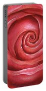 Red Rose Pastel Painting Portable Battery Charger