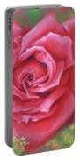 Red Rose With Yellow Lady's Mantle Portable Battery Charger