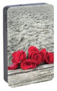 Red Roses Beachside Portable Battery Charger