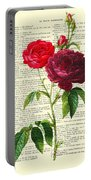Red Roses For Valentine Portable Battery Charger