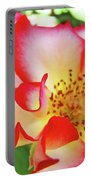 Red Roses White Yellow Rose Flower Floral Art Print Baslee Troutman Portable Battery Charger