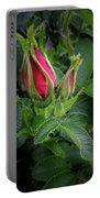 Red Rugosia Bud Portable Battery Charger