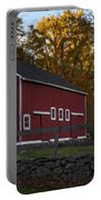 Red Rustic Barn Portable Battery Charger
