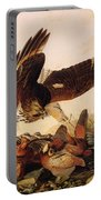 Red Shouldered Hawk Attacking Bobwhite Partridge Portable Battery Charger