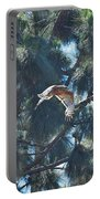 Red Shouldered Hawk Flying Away 1 Portable Battery Charger