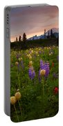 Red Sky Meadow Portable Battery Charger by Mike  Dawson