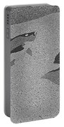 Red Snapper Inlay In Grayscale Portable Battery Charger