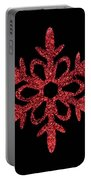 Red Snowflake Ornament Portable Battery Charger
