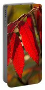 Red Sumac Leaves Portable Battery Charger