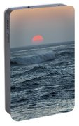 Red Sun With Wave Portable Battery Charger