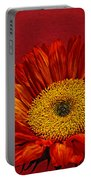 Red Sunflower Viii Portable Battery Charger
