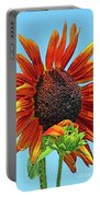 Red Sunflowers-adult And Child Portable Battery Charger