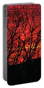 Red Sunrise Over The Ozarks Portable Battery Charger