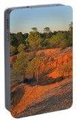 Red Sunset Cliffs Portable Battery Charger