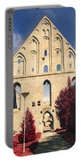 Red Surreal Abbey Ruins Portable Battery Charger