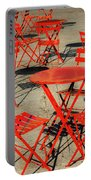 Red Tables And Chairs Portable Battery Charger