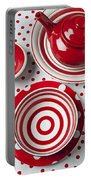 Red Teapot Portable Battery Charger by Garry Gay
