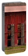 Red Tobacco Barn Portable Battery Charger