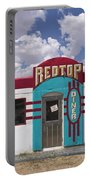 Red Top Diner On Route 66 Portable Battery Charger