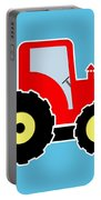 Red Toy Tractor Portable Battery Charger