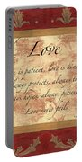 Red Traditional Love Portable Battery Charger by Debbie DeWitt