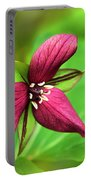 Red Trillium Wildflower Portable Battery Charger