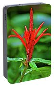 Red Tropical Flower In Huntington Botanical Gardens In San Marino-california  Portable Battery Charger
