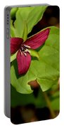 Red Upright Trillium Portable Battery Charger