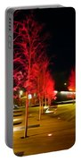 Red Urban Trees Portable Battery Charger