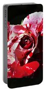 Red Verigated Rose Portable Battery Charger