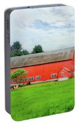 Red Vermont Barn Portable Battery Charger