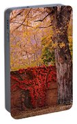 Red Vine With Maple Tree Portable Battery Charger