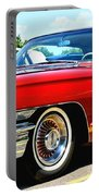 Red Vintage Cadillac Portable Battery Charger