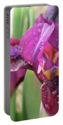 Red Violet Iris Portable Battery Charger