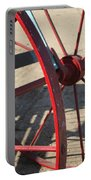 Red Waggon Wheel Portable Battery Charger