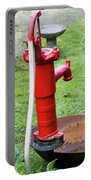 Red Water Pump Portable Battery Charger