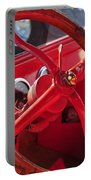 Red Wheel Portable Battery Charger