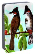 Red-whiskered Bulbul Bird, #246 Portable Battery Charger
